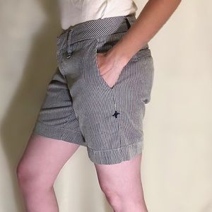 Hurley pin stripe nautical blue and white shorts